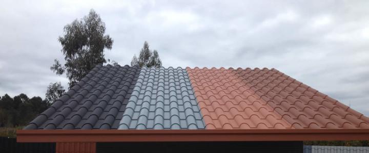 Paneles tejado imitacion teja materiales de construcci n - Cubiertas imitacion teja ...