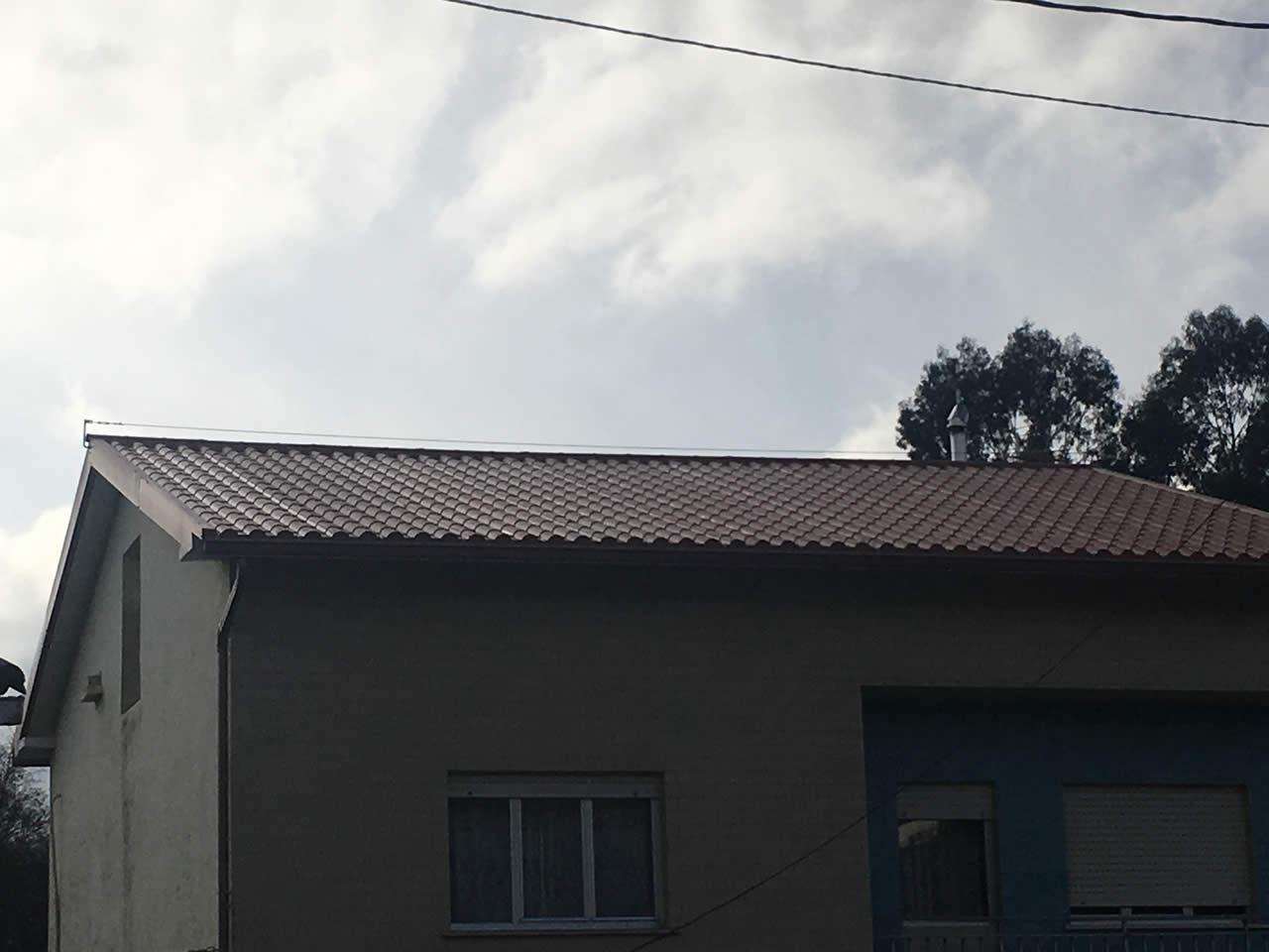instalación panel teja noia