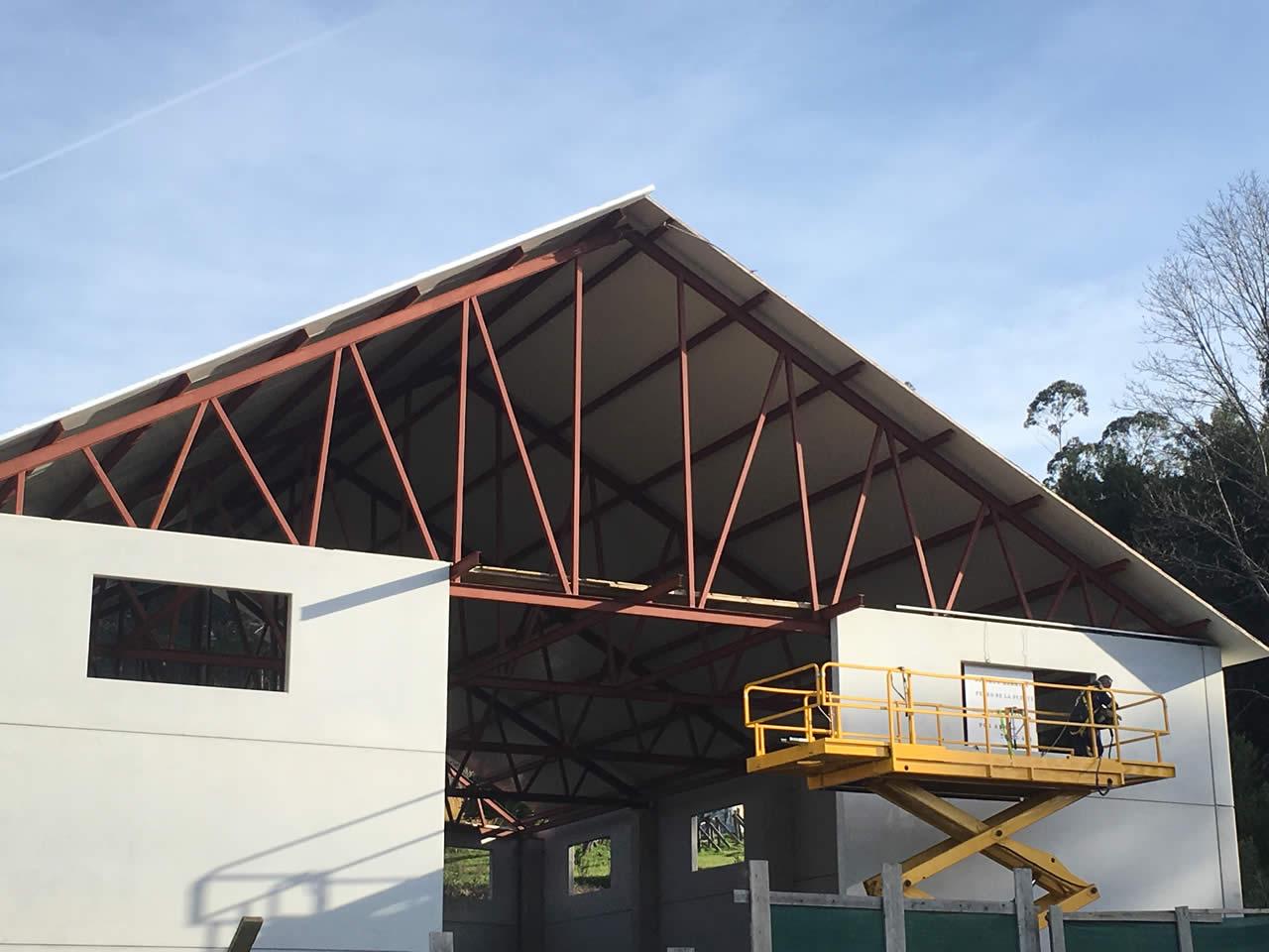 construccion montaje tejado nave industrial reforma vigo