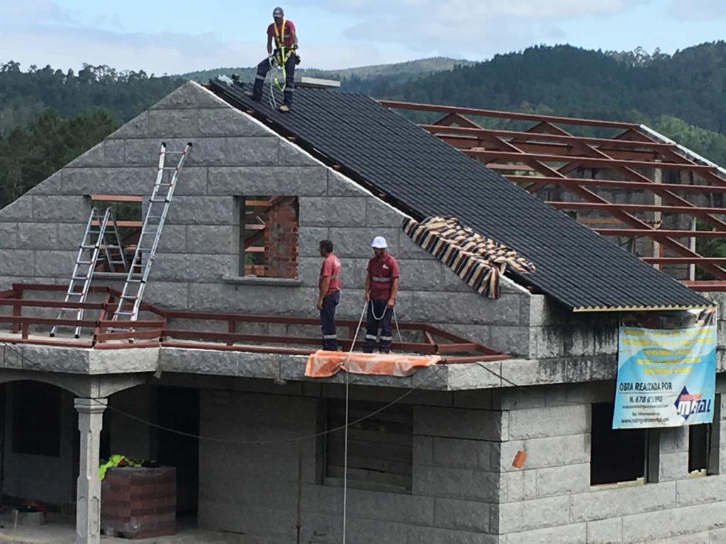 Tejado a tres aguas amazing lavado de tejados de pizarra with tejado a tres aguas great trendy - Tejado a un agua ...