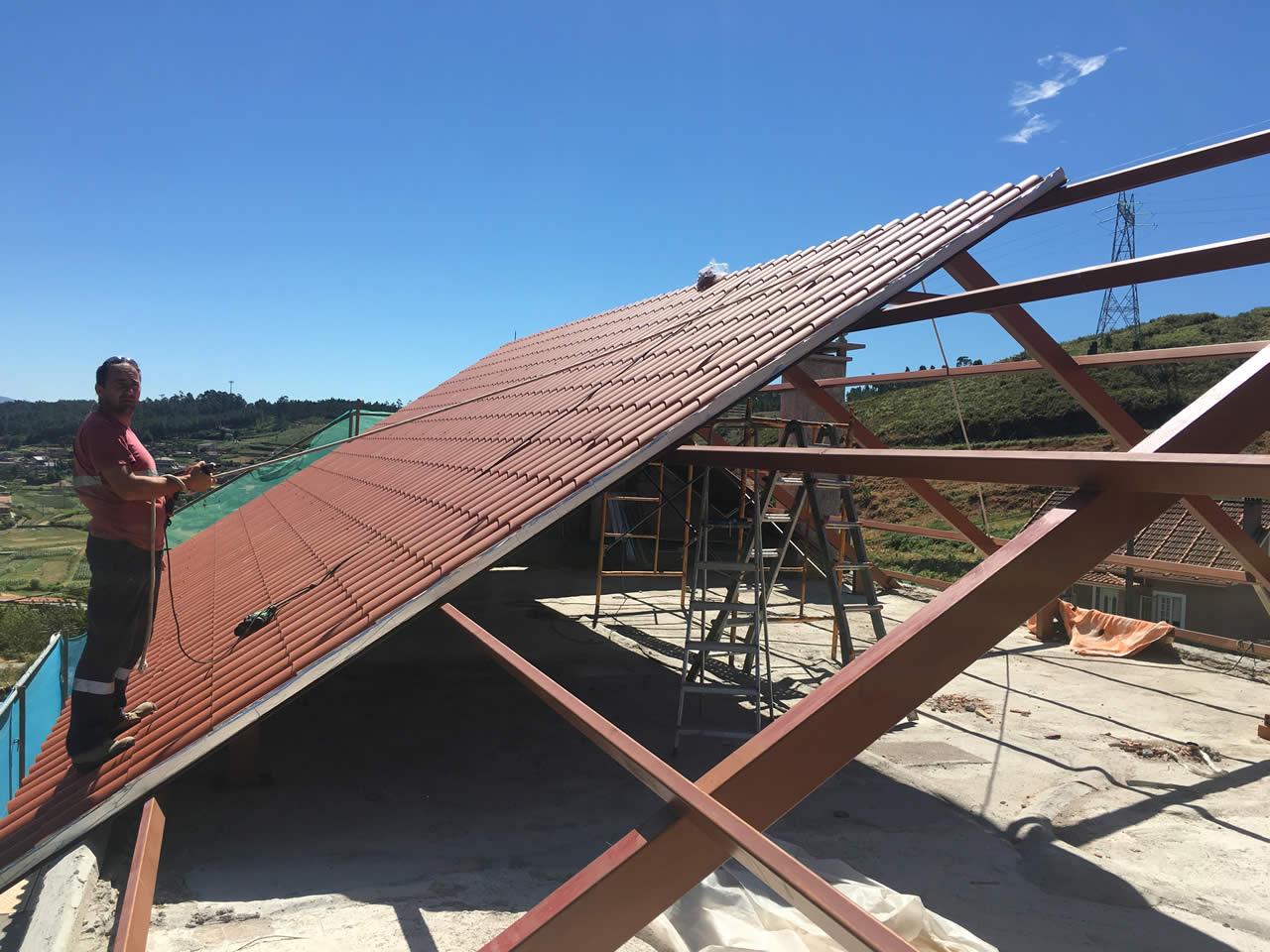 Construcción De Tejado A 2 Aguas En Verducido Pontevedra