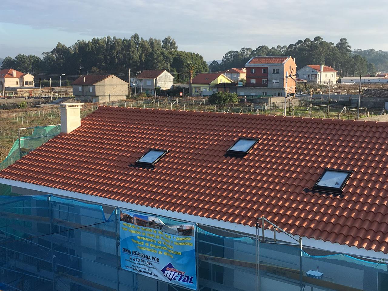 Construcción de tejado en Cambados