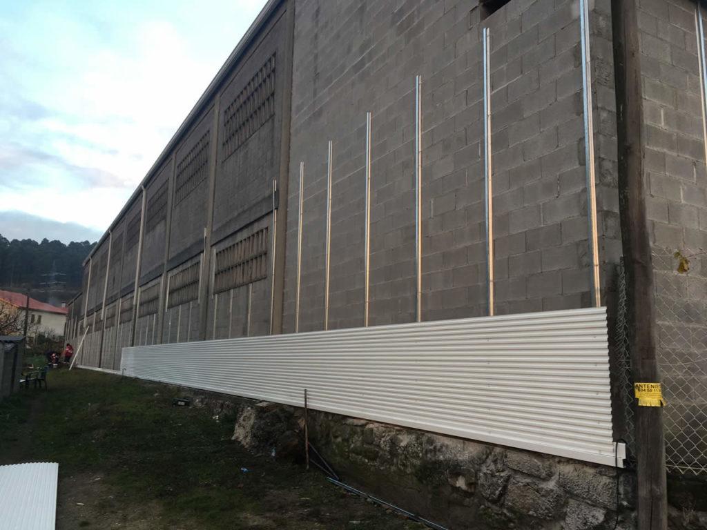 fotos de revestimiento de fachadas de naves industriales en pontevedra - Revestimientos De Fachadas