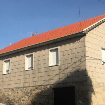 Construcción de tejado en Barrantes