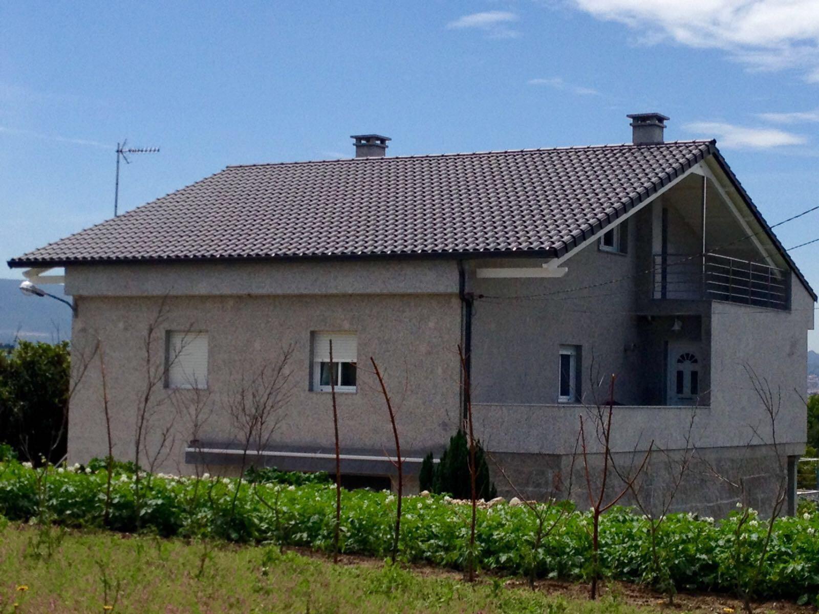 Construcción de tejado en Pontevedra