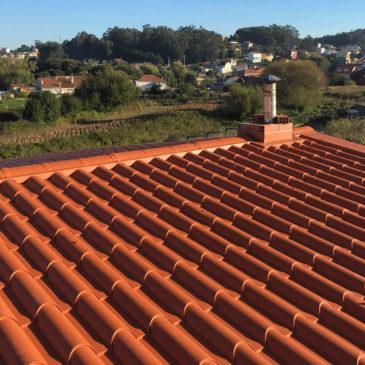 Construcción de tejado a 2 aguas en O Grove